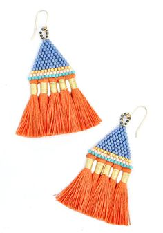 Incan Tassel Earrings