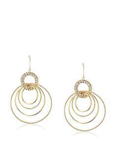 54% OFF Chloe & Theodora Shimmer Multi-Circle Earrings