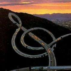 Music note road...
