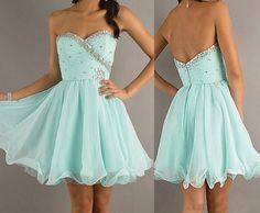 cheap prom dresses short prom dress baby blue prom dress baby blue dress cocktail dress Chiffon via Etsy