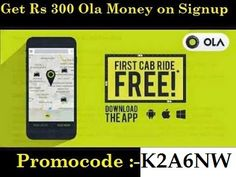 [PROMOCODE] How to signup and get 300 Ola Money and free ride on Olacabs