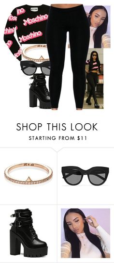 """""""NICKI MINAJ LIKE"""" by juske ❤ liked on Polyvore featuring Moschino and Le Specs"""