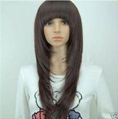 cortes de cabello largo en capas degrafilado | ... Hermosa Peluca Cafe Obscuro Corte Grafilado..... Mexicali