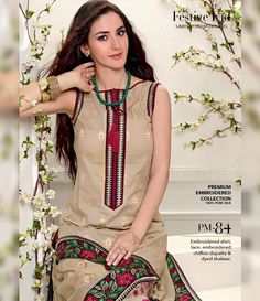 Gul Ahmed Premium Embroidered Chiffon Festive Collection 2015 PM-84