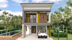 Small Home Design Plan with 3 Bedrooms - SamPhoas Plan Two Storey House Plans, One Storey House, 2 Storey House Design, Bedroom House Plans, House Floor Plans, Home Decor Bedroom, Bedroom Small, Bedroom Modern, Modern Minimalist House