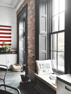 ATELIER RUE VERTE , le blog: Brooklyn / L'intérieur chiné d'une famille d'expatriés française /