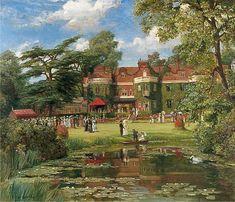 Garden Party at Milburn, Esher Talbot Hughes - 1907
