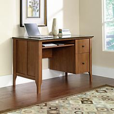Sauder Appleton Faux Marble Top Computer Desk 30 710 H x 53 532 W x 23 1532 D Sand Pear by Office Depot & OfficeMax