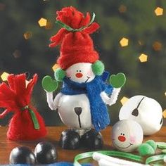 Jingle Bell Snowman Ornaments (19 Pack) - Kids Christmas Crafts Kits