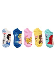 Disney Princess No-Show Socks- I WANT THESE