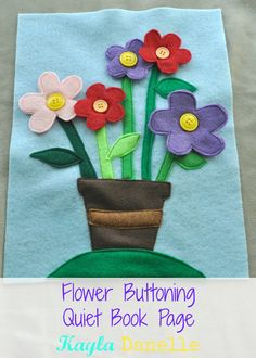 Really cute flower quiet book page!