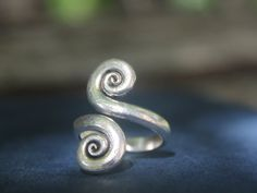 Boho jewellery Handmade Double Spiral Tribal by SkyesPurpleCloud