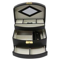 Bey-Berk Leather with Studs Travel Jewelry Box Travel Jewelry Box, Large Jewelry Box, Big Jewelry, Layered Jewelry, Jewellery Boxes, Jewellery Storage, Studded Leather, Black Leather, Leather Jewelry Box