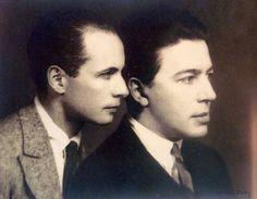 Louis Aragon & Andre Breton, 1924. Photo by Man Ray.