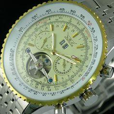 JARAGAR Luxury Watch Men Day/Month/Week Tourbillon Mechanical Watches Full Stainless Steel Automatic Men watch relogio masculino