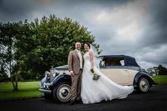 A Foodie Wedding at Beeston Manor – Laura & Stephen. Vintage wedding transport.  Image by H2 Photography.  Read more: http://bridesupnorth.com/2015/07/06/a-foodie-wedding-at-beeston-manor/