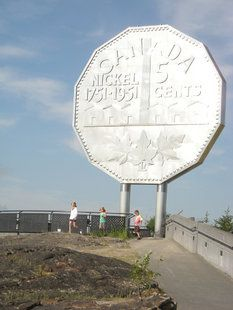Where: Sudbury, Ontario. What: The Big Nickel. Wait, what? Talk about big coin! The Big Nickel is a replica of a 1951 coin and is listed in the Guinness Book of World Records as the world's largest coin. canada