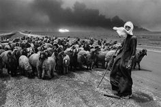 © Sebastião Salgado. Kuwait, a desert on fire.