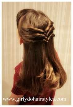 hair styles for medium length hair hair trends brunette hair Easy Little Girl Hairstyles, Pretty Hairstyles, Braided Hairstyles, Step Hairstyle, Wedding Hairstyles, Open Hair Hairstyles, Simple Hairdos, Hairstyle Images, Birthday Hairstyles