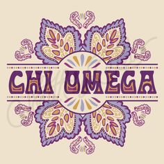 Sorority Social Chi Omega Retro Floral South By Sea