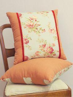 Floral Linen Decorative Pillow by DecorshopSu on Etsy