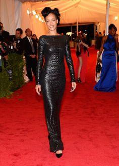 "Rihanna in Tom Ford. Im not a huge Rihanna ""Style"" fan, but she looks great!"
