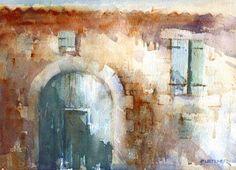 """""""The Green Door"""" - Original Fine Art for Sale - © Nigel Fletcher"""