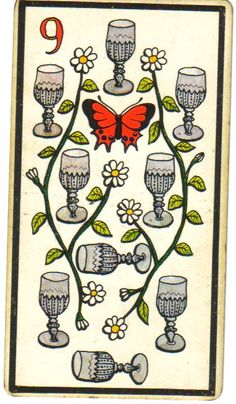 nine of cups - tarot card