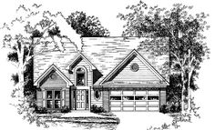 Eplans New American House Plan - Enduring Quality and Beauty - 1448 Square Feet and 3 Bedrooms from Eplans - House Plan Code HWEPL08013