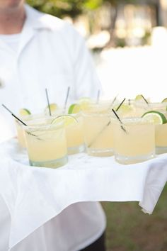 Wedding day ritas - yum! Mi Amore Foto via Style Me Pretty Wedding cocktail recipe ideas