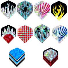 30Pcs/10Sets Professional 2D Bling Dart Flights Laser Tail Flight Harrows Throwing Toy Drop Shipping #Affiliate