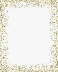 Gold color border, Frame, Sequins Border PNG Image