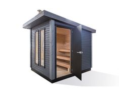 Outdoor Sauna, Sauna Design, Saunas, Backyard Landscaping, Locker Storage, Patio, House Ideas, Home Decor, City