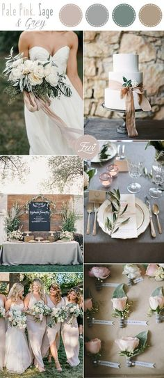 pale pink and grey simple garden wedding inspiration #weddingdecoration