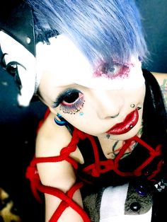 Backstage photo of METO of MEJIBRAY at their live event【モバイル会員限定東名阪ツアー「Devouring Silphidae」-深淵蠢くシャングリラ-】held at Ash Osaka on Nov. 15th, 2014.