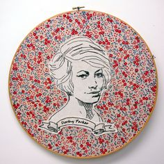 Stitched face of Dorothy Parker - day 274 by luckyjackson.