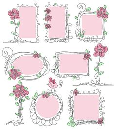 Digital Frames Set Hand drawn picture frames by antuanetto, $10.00