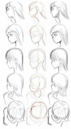 ▷ 1001 + ideas on how to draw anime - tutorials + pictures face drawing, from different angles, anime boy drawing, black and white, pencil sketch Drawing Heads, Drawing Poses, Drawing Tips, Drawing People Faces, Anime People Drawings, Drawing Anime Bodies, Anatomy Drawing, Manga Drawing, Manga Art