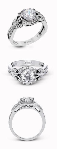 The perfect engagement ring for those who vintage style! TR629 by @simongjewelry #SimonG #SimonGJewelry #rings #diamonds #RingoftheWeek #ring #engagementring #jewelry #ad #wedding #diamondring #whitegold #engaged #weddinginspo #bling