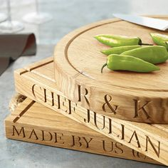 personalised oak chopping board by the oak & rope company | notonthehighstreet.com