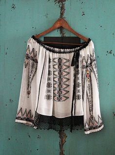 antique ethnic embroidery blouse / rusticwoodland by silkroaddream, $380.00