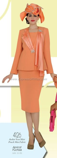 women's church suits and hats | Champagne 4126 Womens Church Suits