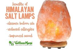 A Himalayan salt lamp is a natural light source that may help improve indoor air quality, improve mood and reduce indoor allergens.