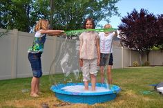 A hula hoop is the biggest, baddest bubble wand ever!
