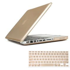"2in1 Champagn Gold Matte Hard Case Cover for Macbook Pro 13"" A1278(Have CD-Rom)"