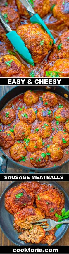 You are going to love these Easy Sausage Meatballs! Made with just a few simple ingredients, these meatballs are soft, flavorful, and yummy! ❤ COOKTORIA.COM