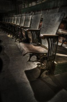 Theater Seats - Anyone Think these chairs need a bit of TLC from our Interior Designers?