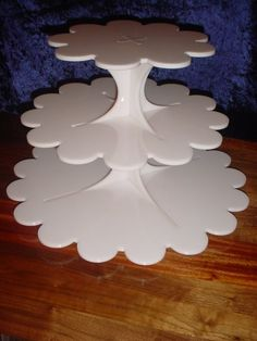 Cup Cake Stand Acrylic 3 Tier WHITE by penstofurniture on Etsy, $140.00