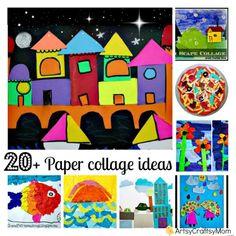 ArtsyCraftsyMom: 20+ Paper collage ideas for kids