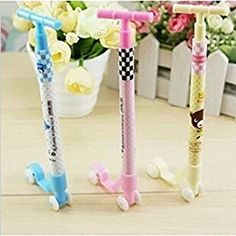 Amazon.com : KitMax (TM) Pack of 12 Pcs Cute Cool Novelty Scooter Shape Personalized Promotional Ballpoint Pens Office School Supplies Students Children Gift : Office Products